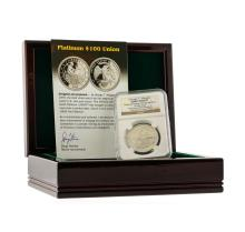 1876 $100 George T. Morgan Platinum Coin NGC Ultra Cameo Gem Proof
