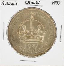 1937 Australia Silver Crown Coin
