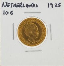 1925 10G Netherlands Gold Coin