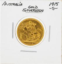 1915-S Australia Gold Sovereign Coin