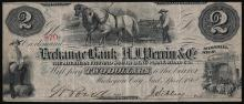 1862 $2 The Exchange Bank- A.J. Perrin & Co Obsolete Note