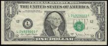 1977A $1 Federal Reserve Note Shift ERROR