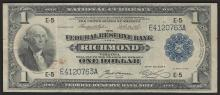 1918 $1 Federal Reserve Bank of Richmond, Virginia National Currency Note