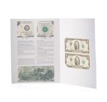 Uncut Sheet of (2) 2003 $2 Federal Reserve Notes