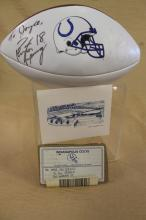 Peyton Manning and Marvin Harrison signed Football