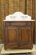 MARBLETOP DRY SINK COMMODE/ WET BAR