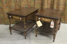 PAIR HITCHCOCK TABLES