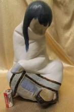 Vintage 1977 Lladro - American Indian/ Eskimo Girl
