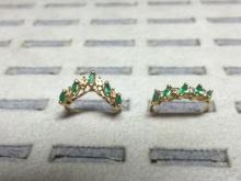2 Ladies Emerald and diamond rings