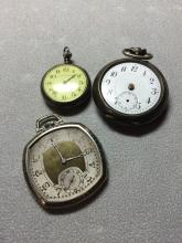 Collection of 3 Antique Watches (non functioning)