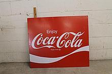 Vintage metal Coca-Cola sign