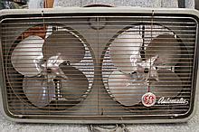 Vintage GE Automatic twin fan