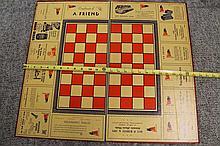 Buy US War Savings Bonds Stamps Army Navy Advertising Chess Checker Board