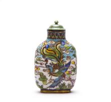 A Chinese Cloisonne Snuff Bottle