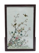 A Chinese Famille Rose Porcelain Hanging Screen