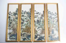 A Chinese Porcelain Plaque with Frame