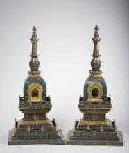 A Pair of Chinese Cloisonn¨¦ Tower