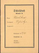 III. REICH - SCHIESSBUCH Gruppe B Schiessjahr 1937/38