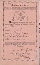 1862 HANNOVER Aufgabe-Schein