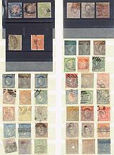 SPANIEN 1852-1889 Lot von 89 Werten