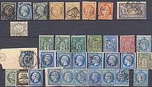 FRANKREICH 1849-1900 kleines Lot von 33 Werten