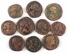 10 römische Münzen