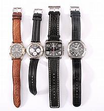 4 Herren Armbanduhren Chronograph