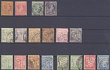 MONACO 1885-1904 kleines Lot von 18 verschiedenen Werten