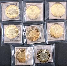 10 x Münze Replik Gold Eagle von 1933