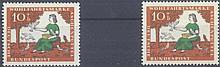 1965 BUND 10+5 Pfennig Aschenputtel mit Plattenfehler I
