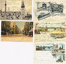 GRUSS AUS...DÜSSELDORF 5 Karten gelaufen 1897/1902