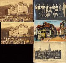 ELSASS /STRASSBURG 5 Karten gelaufen 1899/1941