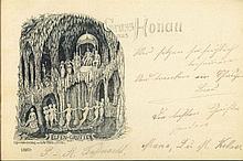 GRUSS AUS...HONAU (RHEINAU) Lithographie gelaufen 1901