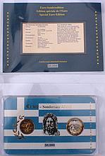 Euro Sondersatz Athen 2 Euro Sondermünze und Gedenkprägung