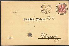 ALT - WÜRTTEMBERG 1901 Vorausentwertungs - Ganzsachen