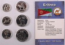Kursmünzensatz Eritrea Nakfa Cents