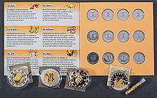 2 Euro Edelmetall-Set Gold Platin Ruthenium