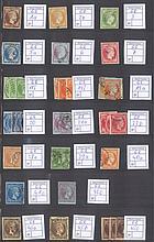 1861-1893 Griechenland Sammlung von 150 Hermesköpfen