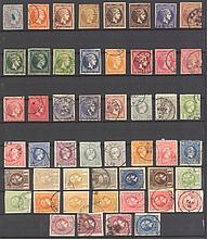 GRIECHENLAND 1861-1893 - HERMESKÖPFE gestempelte Partie von