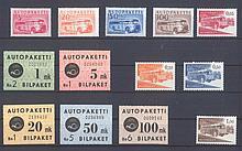 FINNLAND 1949-1963 - AUTO-PAKETMARKEN