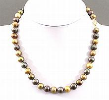 Perlenkette Bi-Color Tahitiperlen