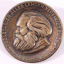 Silbermedaille mit Anstecknadel