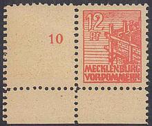 1946 Sowjetische Zone, 12 Pfennig Abschied mit LEERFELD!