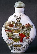 Snuff-Bootle aus Porzellan, China 19. Jh.