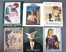 Konvolut von sechs Kunstbänden