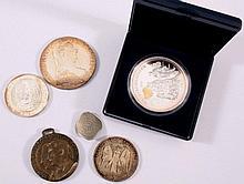 Posten Silbermünzen und Medaillen