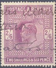 1902 Grossbritannien, 2`6 Shilling König Edward mit