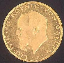 Bayern, Ludwig III, 20 Mark 1914 D