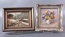 2 kleine Gemälde