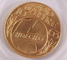 Medaille 100 Jahre Hoechst